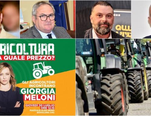 BOVOLONE. ARRIVA GIORGIA MELONI ALLA MANIFESTAZIONE DI PROTESTA DEGLI AGRICOLTORI PROMOSSA DA FRATELLI D'ITALIA.