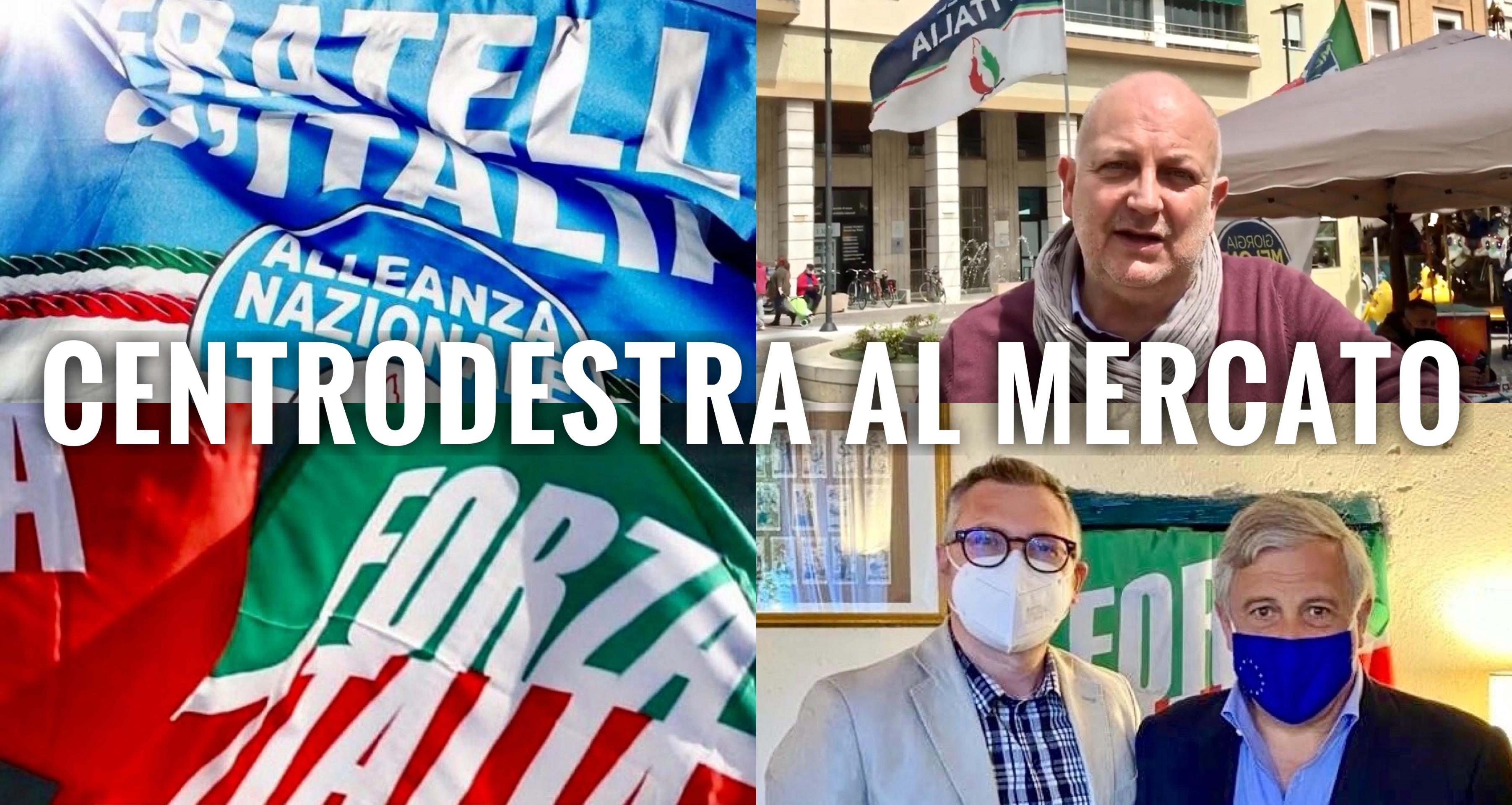 LEGNAGO. DOPPIO APPUNTAMENTO POLITICO QUESTA MATTINA IN PIAZZA GARIBALDI CON FRATELLI D'ITALIA E FORZA ITALIA.