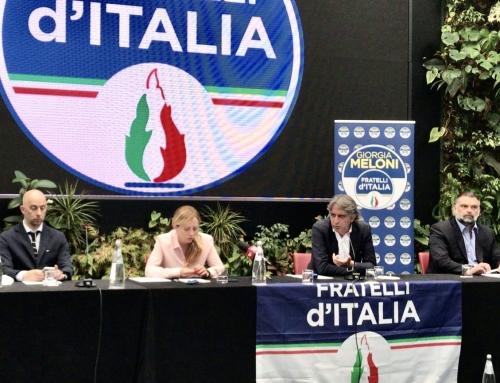 VERONA. [VIDEO] IL SINDACO DI VERONA, FEDERICO SBOARINA, ENTRA IN FRATELLI D'ITALIA. LO HA ANNUNCIATO CON GIORGIA MELONI.